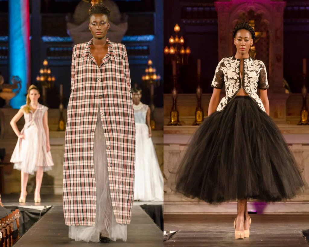 At the  2014 Montreal Black Fashion Week: Models wearing Adama Paris (left) and Helmer (right)  © Sachin Shrestha