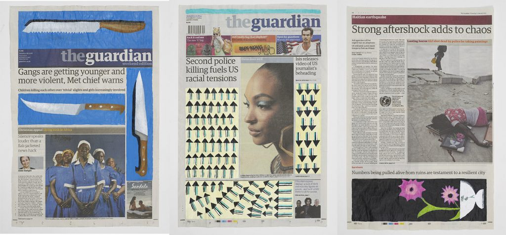 """Lubaina Himid, """"Now come on! (Negative Positives: The Guardian Series)"""", 2007"""